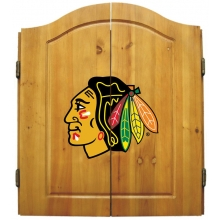 Chicago Blackhawks NHL Dartboard Cabinet Set