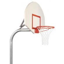 Bison PR20 3-1/2'' Gooseneck Basketball System w/ STEEL Fan Backboard