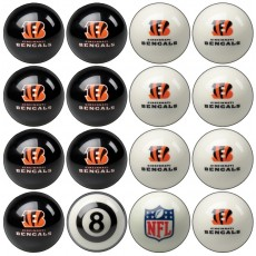 Cincinnati Bengals NFL Home vs Away Billiard Ball Set