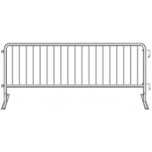 "Crowdstopper 8'6""L Crowd Control Steel Barricade w/ Flat Foot"