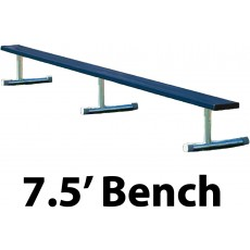 Aluminum Player Bench, Powder Coated, PORTABLE, 7.5'