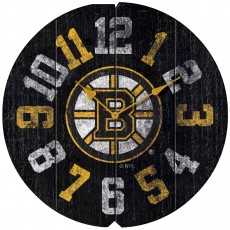 Boston Bruins Vintage Round Clock