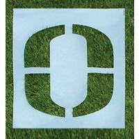 """Standard Football Field Stencil Kit, 6'H, 1/16"""" Thick"""