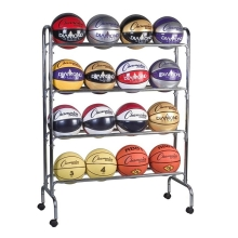 Champion BRC4 Wide Base Basketball Ball Rack, 16 ball