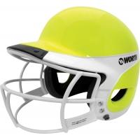Worth WLBHA Liberty Away Optic Yellow Softball Batting Helmet w/ Faceguard