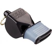 Fox 40 Classic CMG  Comfort Grip Coach/Referee Whistle, Black