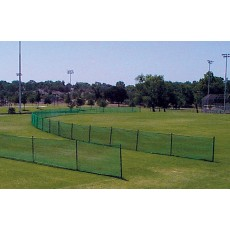 150' Portable Temporary Mesh Outfield Fencing w/ Ground Sockets