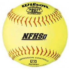 "Wilson A9011BSST 47/375 NFHS Leather Softballs, 12"", dz"