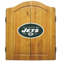 New York Jets NFL Dartboard Cabinet Set