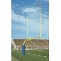 Bison FB55HS-SY Official High School Football Goal Posts, 5-9/16'' dia., Yellow