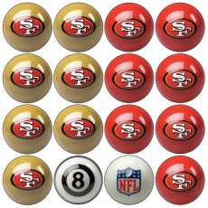 San Francisco 49ers NFL Home vs Away Billiard Ball Set