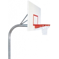 Bison PR60 4-1/2'' Gooseneck Basketball Hoop w/ Rectangular Backboard