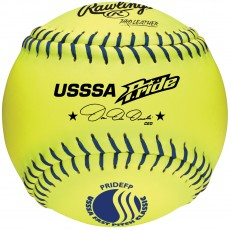 Rawlings PRIDEFP 47/400 USSSA Official Leather Fastpitch Softballs, dz, 12""