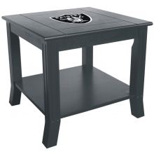 Oakland Raiders NFL Hardwood Side/End Table
