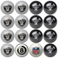 Oakland Raiders NFL Home vs Away Billiard Ball Set