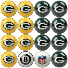 Green Bay Packers NFL Home vs Away Billiard Ball Set