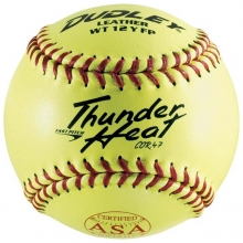 "Dudley 4A-147Y 12"", 47/375,  ASA Thunder Heat Leather Fastpitch Softballs, dz"