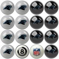 Carolina Panthers NFL Home vs Away Billiard Ball Set