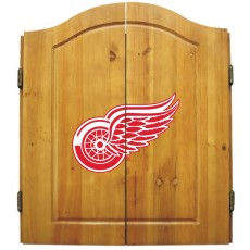 Detroit Red Wings NHL Dartboard Cabinet Set