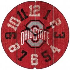 Vintage Round Clock, Ohio State, Buckeyes