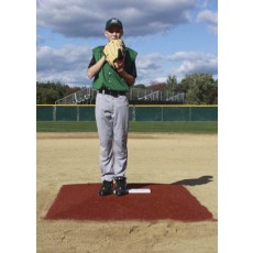 "Promounds MP3002C Minor League Game Mound, 6'L x 5'W x 6""H, Clay"