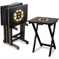Boston Bruins NHL TV Snack Tray/Table Set