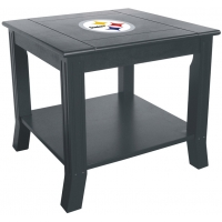 Pittsburgh Steelers NFL Hardwood Side/End Table