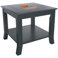Cleveland Browns NFL Hardwood Side/End Table