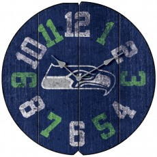 Seattle Seahawks Vintage Round Clock