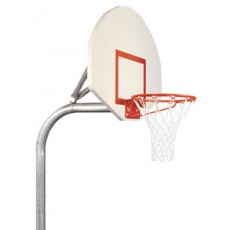 Bison PR20 3-1/2'' Gooseneck Basketball System w/ STEEL Fan Backboard