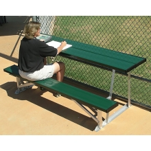 7.5' Portable Outdoor Powder Coated Scorer's Table & Bench, BEST08C