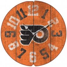 Philadelphia Flyers Vintage Round Clock