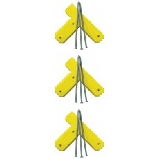 Soft Touch S1415MS Spike-Down Tees w/ Spikes, set of 3