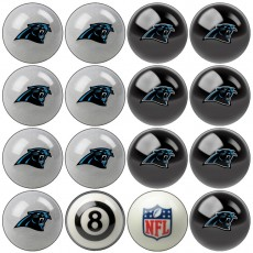 Carolina Panthers NFL Home vs Away Billiard Ball Set