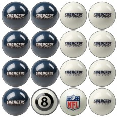 San Diego Chargers NFL Home vs Away Billiard Ball Set
