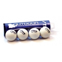 Stiga Outdoor Table Tennis Balls, White, 4 pack