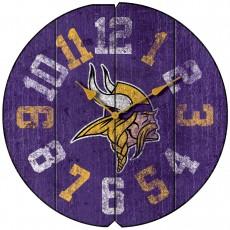 Minnesota Vikings Vintage Round Clock