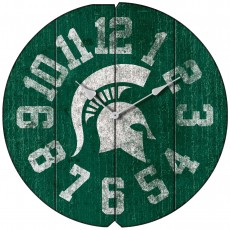 Vintage Round Clock, Michigan State University, Spartans