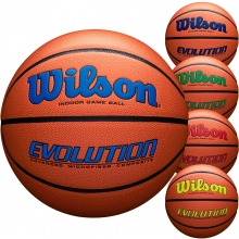 Wilson Official 29.5 Evolution Basketball, Navy, Royal, Green, Scarlet