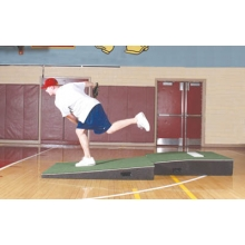 "Promounds MP2031 Professional 2-piece Indoor Pitching Mound, 4'W x 9'L x 10""H, Green"