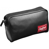 Rawlings Black Leather Toiletry Travel Kit