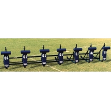 Fisher CL7T JV Football Blocking Sled - T PAD, 7 MAN