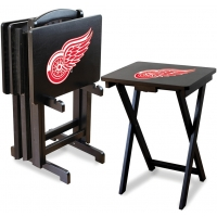 Detroit Red Wings NHL TV Snack Tray/Table Set