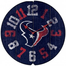 Houston Texans Vintage Round Clock
