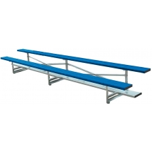 2 Row, 15' STANDARD Powder Coated Bleacher