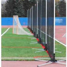 Hot Bed Lacrosse / Soccer Safety Netting System, 120'L x 12'H