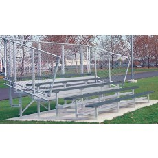 5 Row, 15' STANDARD Bleacher, POWDER COATED