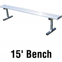 Jaypro PB-15 Aluminum Player Bench, PORTABLE, 15'