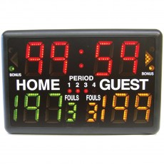 "Multi-Sport Electronic Tabletop Scoreboard w/ Wireless Remote, 24""W x 16""H"