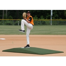 "Proper Pitch 817001TG Tapered Game Mound Junior, 9'L x 5'4""W x 6""H, Green"